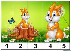 puzzles infantiles para aprender los números-2 Fun Classroom Activities, Toddler Learning Activities, Animal Activities, Montessori Activities, Kindergarten Activities, Infant Activities, Numbers Preschool, Preschool Crafts, Crafts For Kids