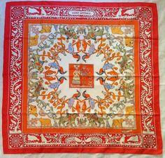 Hermes Early America Scarf 90cm Carre 100% Silk $354
