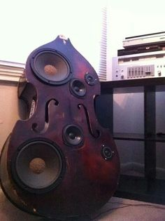 Speakers in a bass or viola