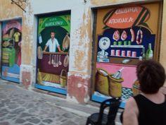 3 painted doors at Volissos vill. Chios Chios, Painted Doors, Walls, Artist, Painting, Artists, Painting Art, Paintings, Painted Canvas