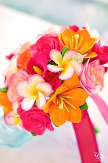 DK Designs: Tropical Wedding Bouquet for a Destination Maui Wedding