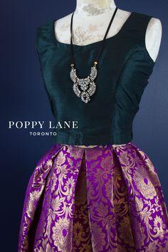 Purple Opulence Skirts x Pine Dark Green Blouses by Poppy Lane Toronto