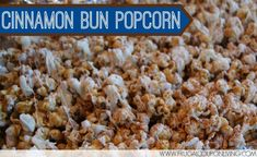 Cinnamon Bun Popcorn Recipe – 4 Days of Popcorn Recipes - Great for giving over the holiday season! #Recipe #cinnamonbun #holiday