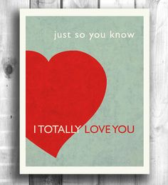Typography print poster from HappyLetterShop #walldecor #typography #love