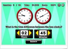"""Time difference"" (Novelgames.com) English Play, Different, Two By Two, This Or That Questions, Maths Area, Teaching Resources, Art Kids, Second Best, Classroom"