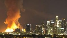 """Massive Da Vinci fire in downtown L.A. was arson, investigators say """"If you think that you're going to be in the cover of darkness,"""" Ruda said as he discussed the video footage, """"there's always somebody watching."""""""