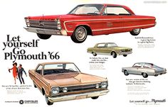 1966 Plymouth VIP - Let youself go - Original Ad