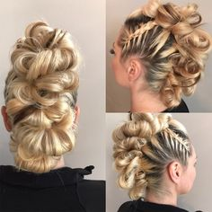 Read information on braids for women Mohawk Hairstyles, Wedding Hairstyles, Mohawk Updo, Hair Up Styles, Editorial Hair, Hair Affair, Grunge Hair, Love Hair, Hair Designs