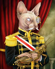 I present to you Baron Scritches von Birdguts The Hypoallergenic. I had a ton of fun on this one and I'm starting to get the hang of digital painting! Prints available at http://ift.tt/2lD9iE4 #cat #sphinx #portrait #digitalart #digitalpainting  #kylebrush #regal #royalty #baron #artistforhire  #art #artforsale  #artistsofinstagram  #artoftheday  #printsforsale #monocle #petgrasshopper #prints