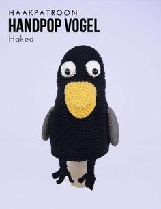 Haakinformatie | Haakpatroon Handpop Vogel • Haakinformatie Free Crochet, Crochet Hats, Puppets, Diy Crafts, Birds, Pattern, Workshop, Kids Learning Activities, Craft