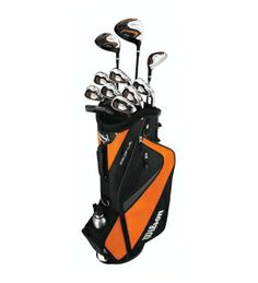 """Where do you fall in this range?   Teen Standard: 5'3"""" to 5'8""""  Teen's Complete 15-Piece Set   Includes a Driver, Fairway Wood, Hybrid, Irons 5, 6, 7, 8, 9, Pitching Wedge, Sand Wedge and Putter  Matches physical geometries of a teen's length and swing speed  Vibration-dampening graphite shafts give a lightweight feel  Wilson Staff Teen Profile Set  Retail Price: $299.00 Golf Director Price: $299.00"""