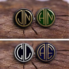 Customize Monogram Cuff Links Men's Jewelry by timemonogram