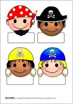Μαθητής αυτο-εγγραφής πειρατές (SB2766) - SparkleBox: