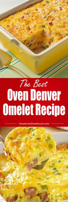 Oven Denver Omelet Recipe – Delicious recipes to cook with family and friends. Oven Denver Omelet Recipe, Breakfast Bake, Breakfast Omelette, Breakfast Egg Casserole, Egg Recipes For Breakfast, Breakfast Items, Breakfast Dishes, Brunch Recipes, Sunday Breakfast