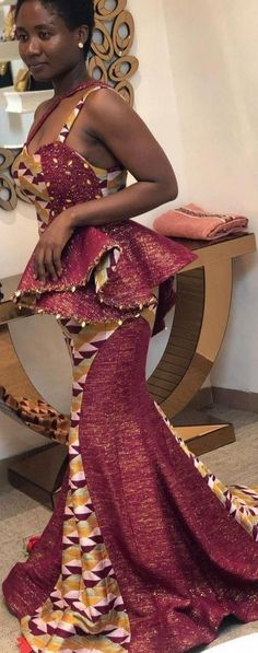 African Traditional Wedding Dress, Kente Dress, Formal Dresses, Tops, Fashion, African Fashion, Dresses For Formal, Moda, Formal Gowns