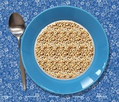 Here's a simple-looking magic eye photo, but as my performances demonstrate, a lot goes on beneath the surface. Post what you see in the comments below!  3D Stereograms - Happy Cereal Stereogram by Gary W. Priester. http://www.eyetricks.com/3dstereo164.htm