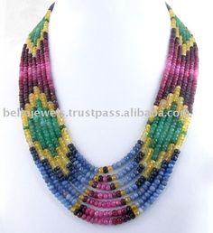 Source Designer Multi Gemstone Beaded Necklace Jewelry India - PayPal on m.alibaba.com