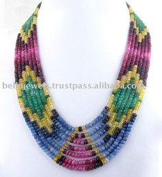 Source Designer Multi Gemstone Beaded Necklace Jewelry India - PayPal on m.alibaba.com