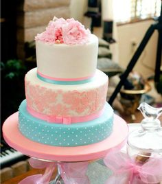 Cute for a baby shower or gender reveal cake