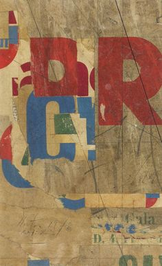 Rick Horton Collages...R 1978 Collage on Paper 8 x 4 7/8 inches