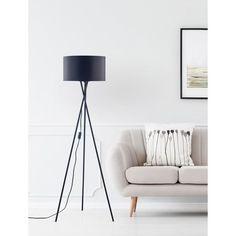 Tripod Lamp, Romance, Lighting, Dark, Design, Home Decor, Black Fabric, Black Metal, Home