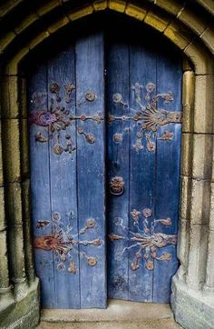 Medieval Cathedral Door In England