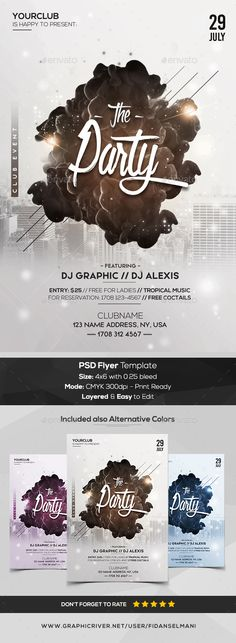 The Party - PSD Flyer Template