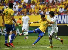 A caminhada do time comandado por Felipão começou em na abertura da Copa das Confederações. O time brasileiro abriu sua participação com uma convincente vitória sobre o Japão por 3 a 0