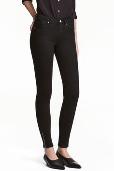 Skinny Low Jeans - Black denim - Ladies | H&M CA 1