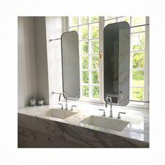 Bathroom mirrors ✔️ #privateresidence #work #louiseliljencrantzdesign…