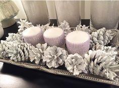 White and silver Christmas decor #apartmentdecor