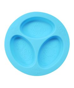 Keep mashed potatoes, steamed broccoli and grilled chicken separated with this silicone divided plate that won't chip, break or make loud noises if dropped! BPA-free and easy to clean, this piece is free from harsh chemicals to ensure every last bite is completely safe.Each section holds 4 oz.Food-grade siliconeDishwash...