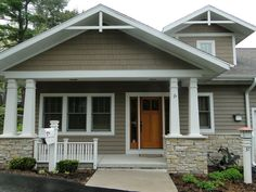 Ranch Home Porches Add Appeal and Comfort Gable roof Front