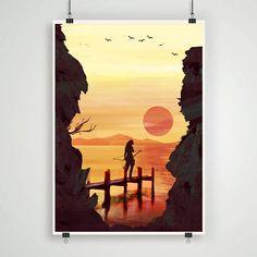 Tomb Raider Lara Croft game poster print tomb raider by Lautstarke