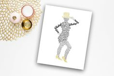 Tap Dance Personalized Name Print, Tap Dancer Gift, Dance Art, 8x10 or 11x14 Print. Make your print personal with your dancer's name. This tap dancer's name art would make a perfect Dance teacher gift, recital gift, or girl's room decor. Customize with your favorite color hat and shoes! NOTE: Color display may vary due to differences in monitor settings. LISTING IS FOR: (1) Art Print - 8x10 or 11x14 (does not come with frame or mat).