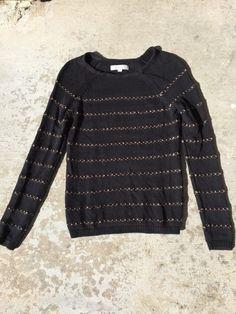 Ann Taylor Loft Black Metallic Striped Long Sleeve Sweater Women's Sz S* in Clothing, Shoes & Accessories, Women's Clothing, Sweaters | eBay