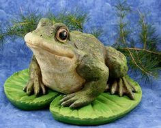 """Giant 12"""" Frog Floater for ponds and pools by Land and Sea. $26.00. Hollow Resin. Length: 12"""". Floating Green Frog sitting on a Lily Pad This frog is adorable and will look fantastic floating in a pool or pond. Larger then life, an excellent garden accent. It will bring an instant smile to your face! You will love this one!. Save 19% Off!"""