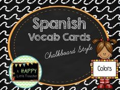 Use these as a center, minilesson, or general resource to students in a Gen Ed classroom or for a Spanish class! Don't forget to leave feedback!Created by A Happy Little Teacher