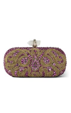 Lily embroidered clutch by Marchesa