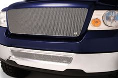 # F1308-09S Ford F-150 Silver MX Grille Upper & Lower Insert Combo Kit Grillcraf #Grillcraft #ChromeTrim