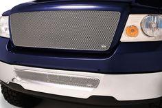 # F1308-09S Ford F-150 Silver MX Grille Upper & Lower Insert Combo Kit Grillcraf #Grillcraft #ChromeTrim