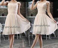 short bridesmaid dress junior bridesmaid dress short by sposadress, $119.00 cute :)