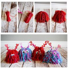 Pin by l ram on pom pom valentine crafts for kids, pencil topper crafts Valentine Crafts For Kids, Valentines Diy, Holiday Crafts, Pencil Topper Crafts, Pencil Toppers, Craft Projects For Kids, Diy Crafts For Kids, Art For Kids, Creative Crafts