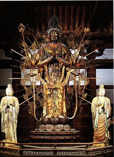 Japanese National Treasure, Statue of Fukukensaku Kannon 不空羂索観音像(東大寺) Buddha , Statues and Icons : More At FOSTERGINGER @ Pinterest