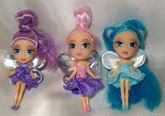 3 Barbies Fairytopia jeweled fairies pink, blue, purple dolls | eBay