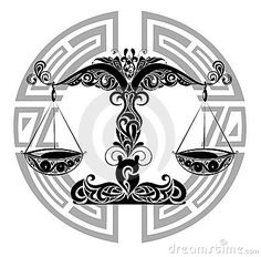 Tattoo sign libra astrology horoscope