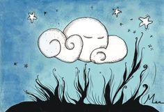 Ilustraciones Dibujos. Mer- illustrations~~~~~~~: Nuevos dibujos- La Luna dormida