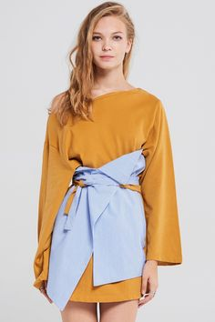 Ally Wrap Dress With Belt Discover the latest fashion trends online at storets.com #fashion #wrapdress #dresswithbelt #belteddress #dresses #storetsonme