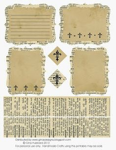 Dictionary Page Journaling Cards