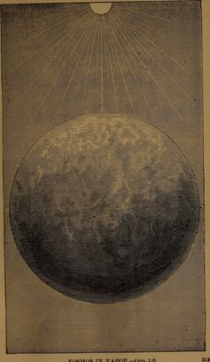 "Illustration of the moon from ""God in nature and revelation"" (1875)"